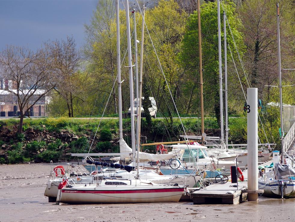 Prise de vue des bateaux Trentemoult