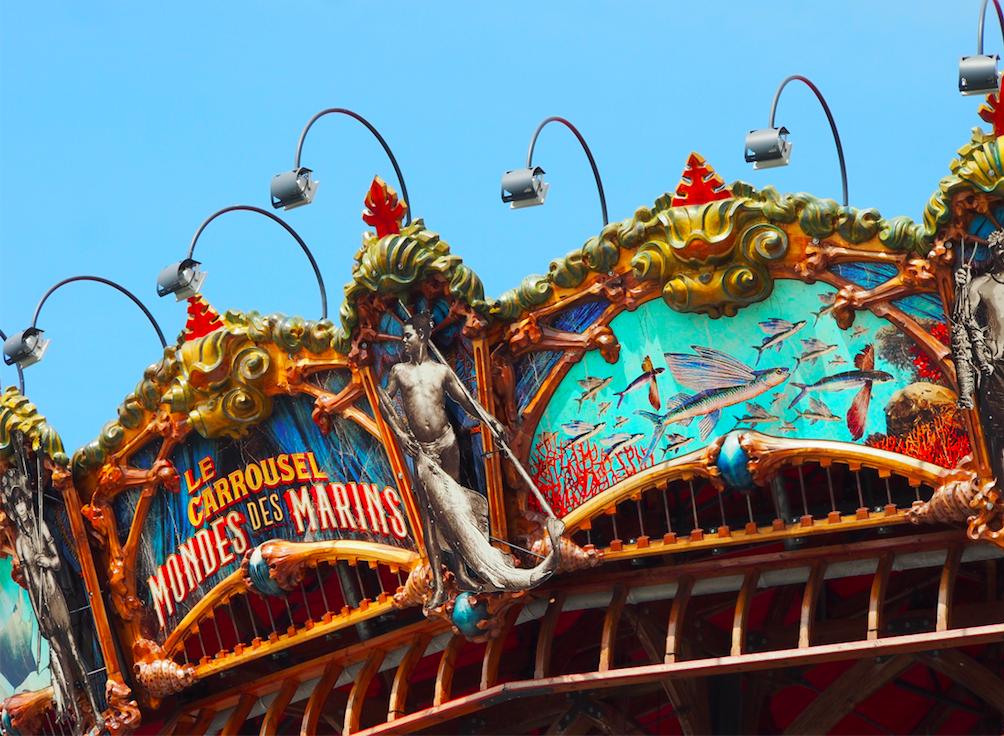 Prise de vue du Carrousel Marin à Nantes