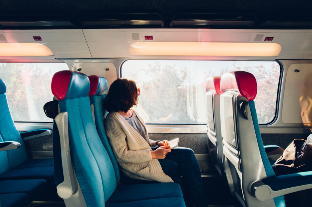 Prise de vue des sièges du train OUIGO