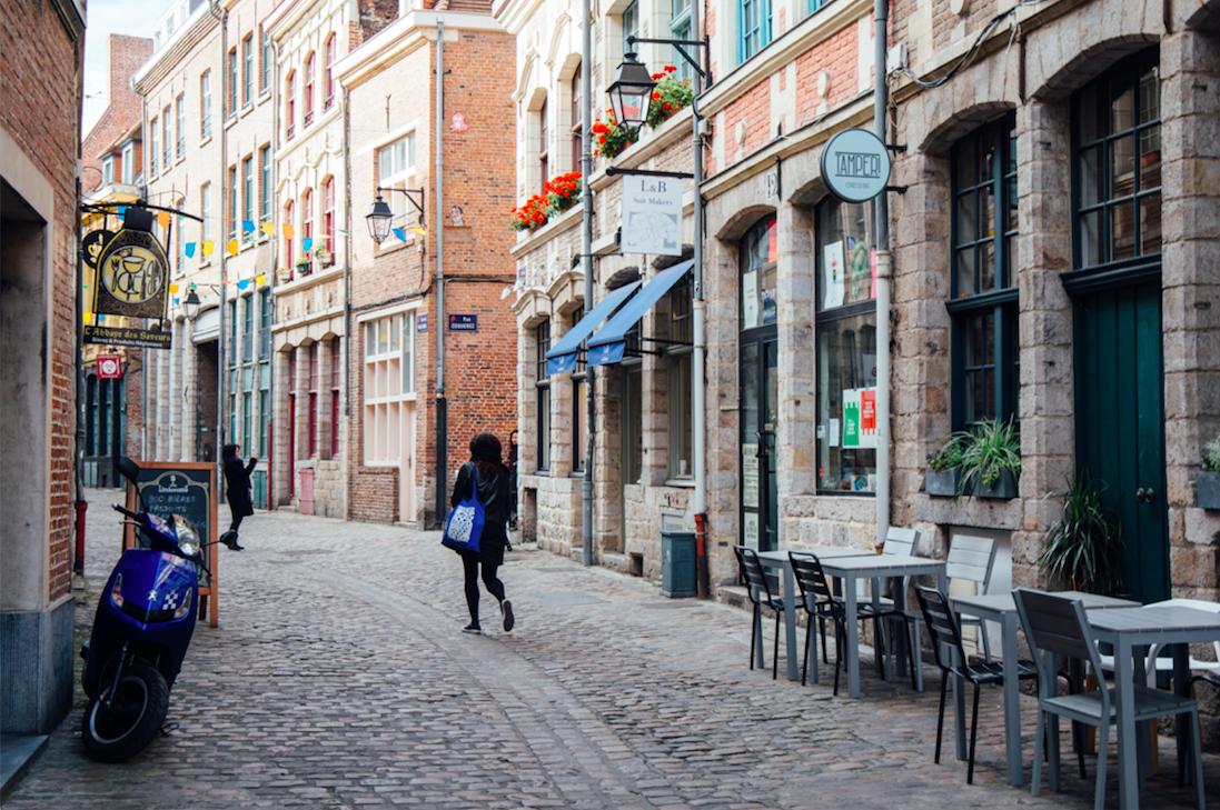 Prise de vue des ruelles du vieux Lille