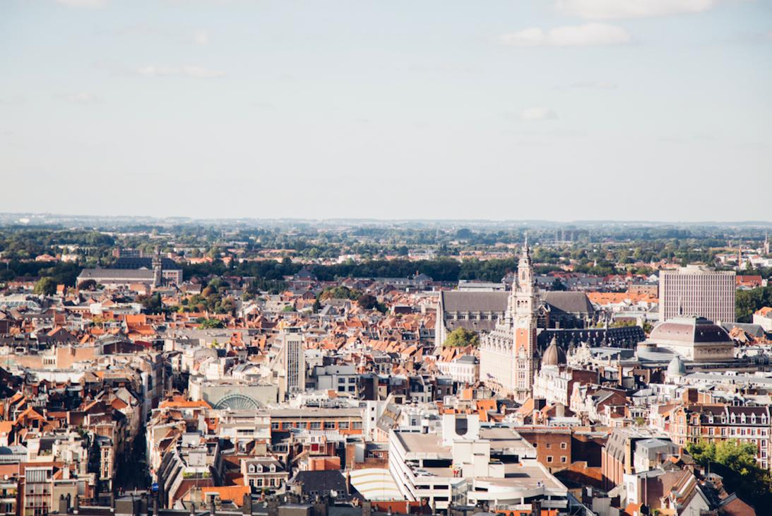 Vue d'ensemble de Lille au sommet du Beffroi