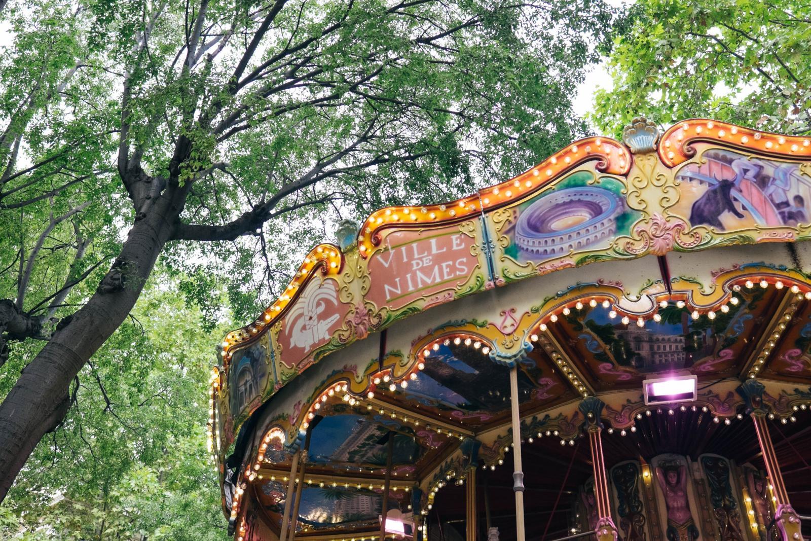 Prise de vue du carrousel de Nîmes