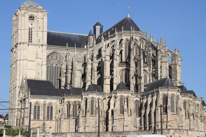 Prise de vue de la Cathédrale Saint-Julien au Mans