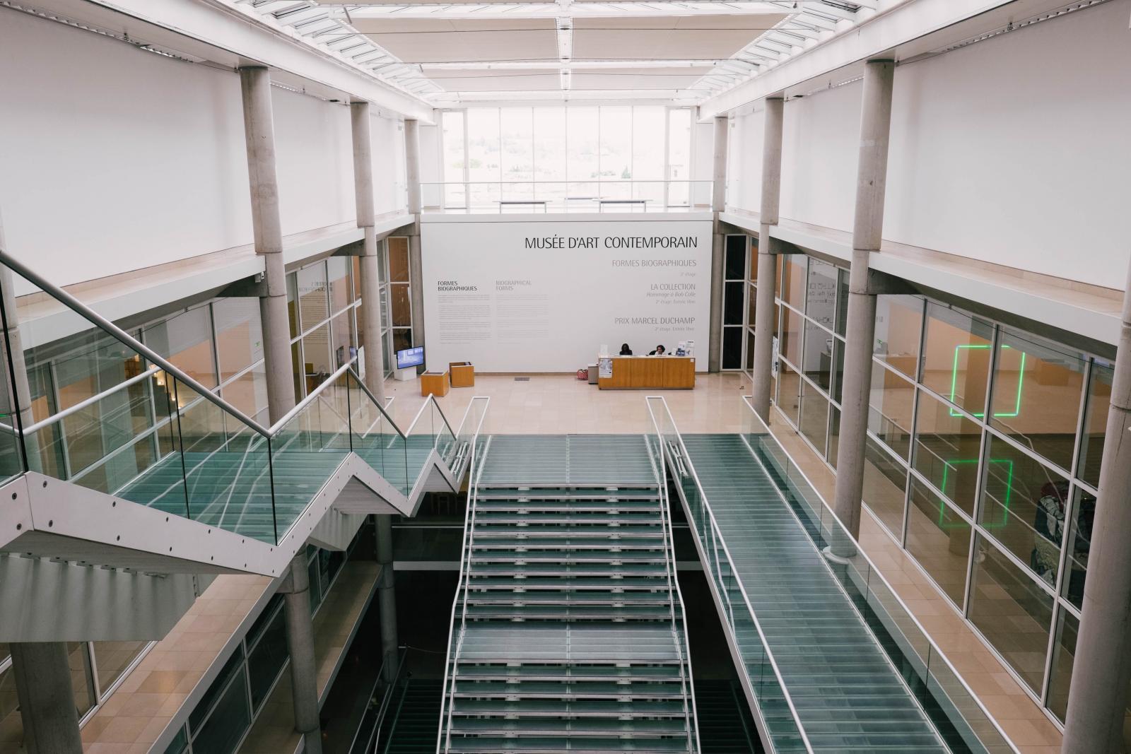 Prise de vue du musée d'art contemporain