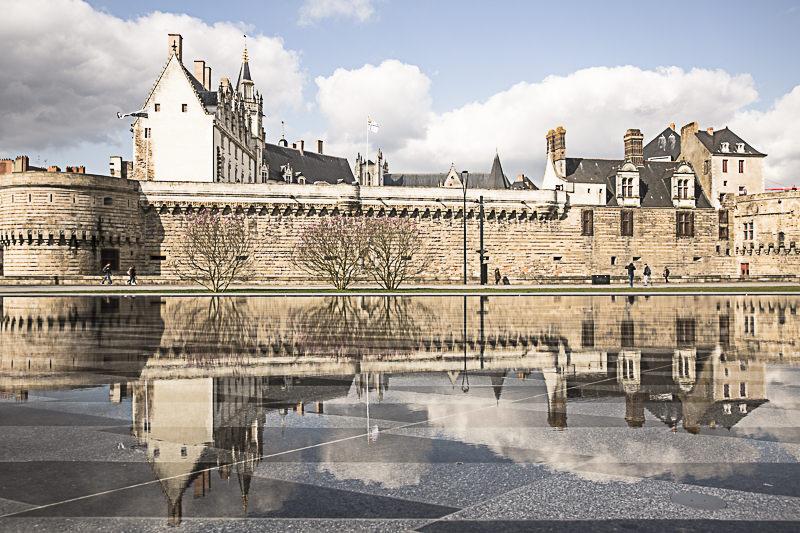 Prise de vue du château des ducs de Bretagne