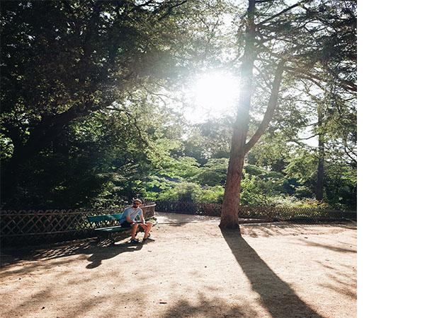 Prise de vue d'un banc au Jardin des Plantes - Angers