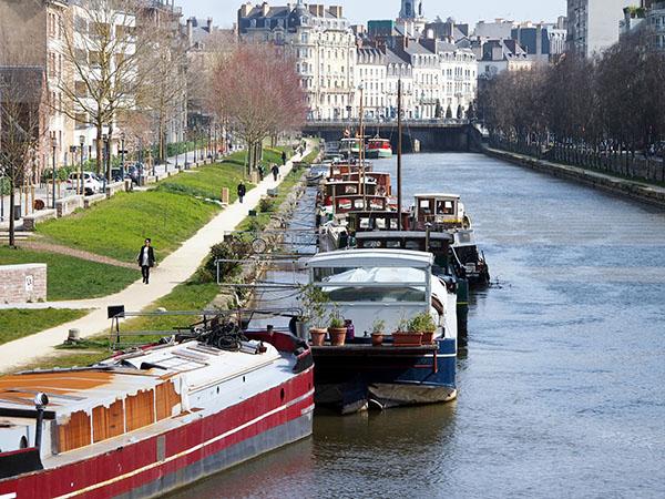 Prise de vue sur les quais de Rennes