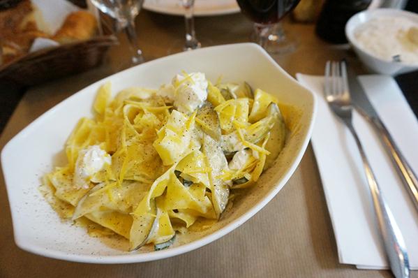 Prise de vue d'un plat du restaurant Italien Salento à Paris