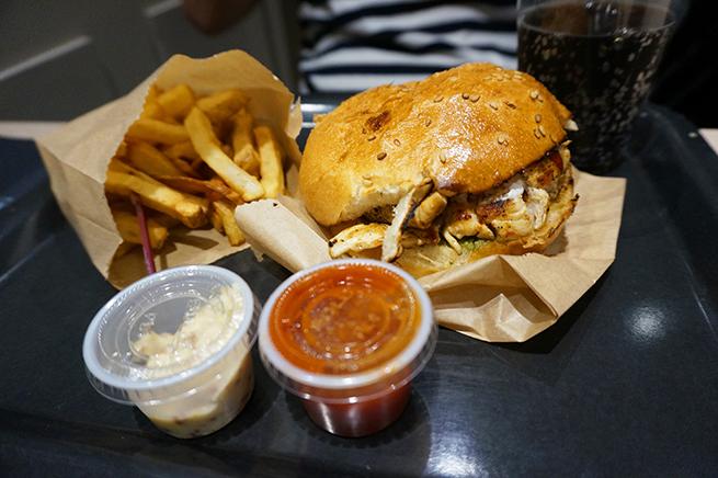 Prise de vue du hamburgerso frenchdeKing Marcel