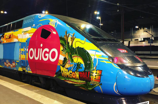 Embarquez dans un train TGV Dragon Ball ! - OUIGO
